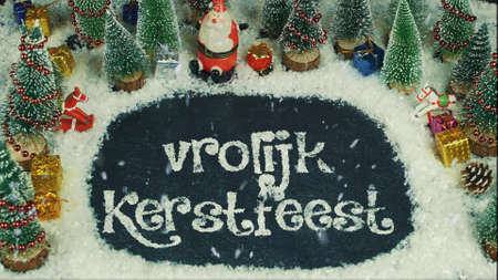 Stop motion animation of Vrolijk Kerstfeest (Dutch), in English Merry Christmas