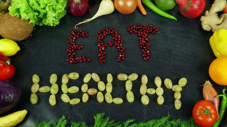 Eat healthy fruit stop motion