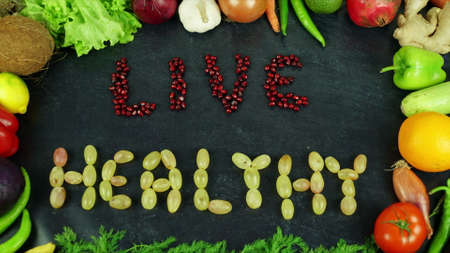 Eat&live healthy fruit stop motion