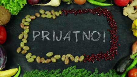 Prijatno Bosnian fruit stop motion, in English Bon appetite