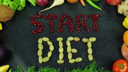 Start diet fruit stop motion