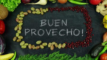 Buen provecho Spanish fruit stop motion, in English Bon appetit