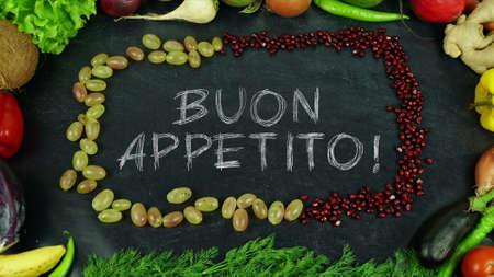 Buon appetito Italian fruit stop motion, in English Bon appetit