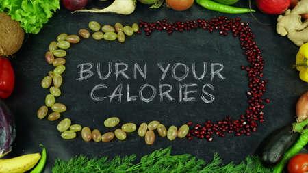 Burn your calories fruit stop motion 免版税图像