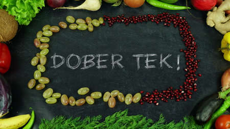 Dober tek Slovenian fruit stop motion , in English Bon appetit