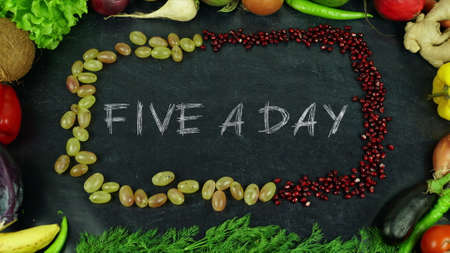 Five a day fruit stop motion
