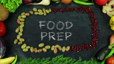 Food prep fruit stop motion