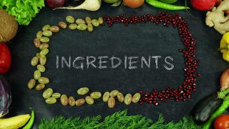 Ingredients fruit stop motion