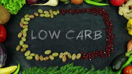 Low carb fruit stop motion 免版税图像