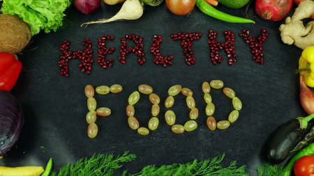 Healthy food fruit stop motion