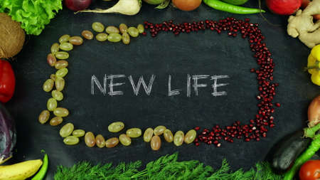 New life fruit stop motion