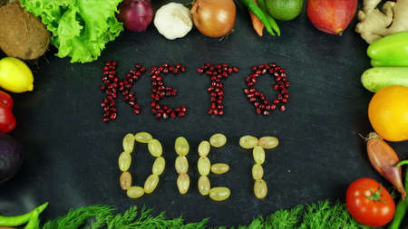Keto diet fruit stop motion 免版税图像 - 91546468