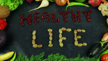 Healthy life fruit stop motion Stock Photo
