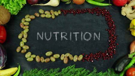 Nutrition fruit stop motion Stock Photo
