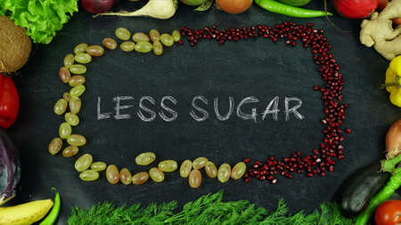 Less sugar fruit stop motion Stock Photo
