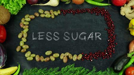 Less sugar fruit stop motion 免版税图像