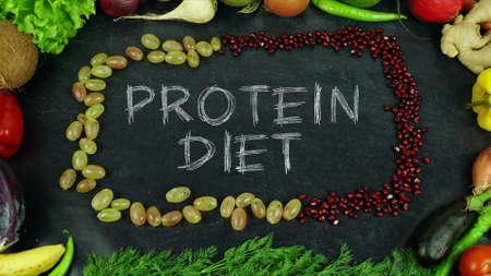 Eiwit dieet fruit stop motion