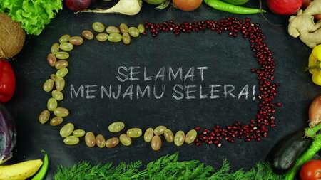 Selamat menjamu selera! Maleisische fruit stop motion, in het Engels Bon appetit