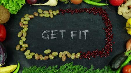 Krijg fit fruit stop motion Stockfoto