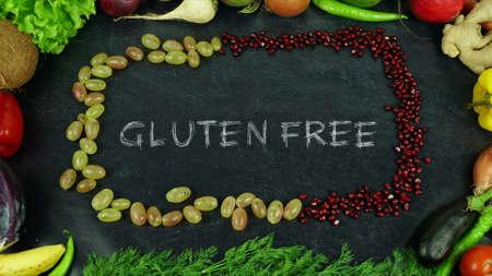 Glutenvrije fruit stop motion Stockfoto
