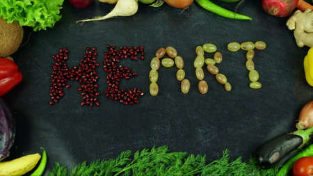 Heart fruit stop motion Standard-Bild