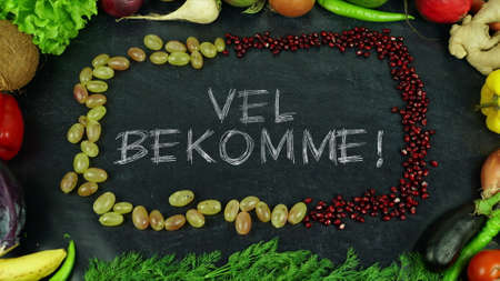 Vel bekomme Norwegian fruit stop motion, in English Bon appetit Banco de Imagens