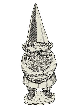 Proud gnome Vector