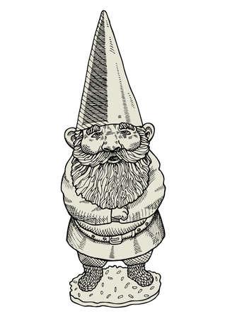 man beard: Proud gnome