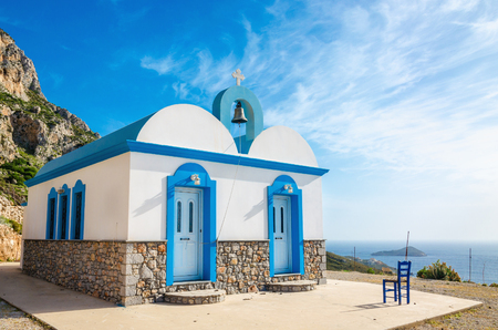dodecanese: Typical Greek blue dome church, Kalymnos, Dodecanese Islands, Greece