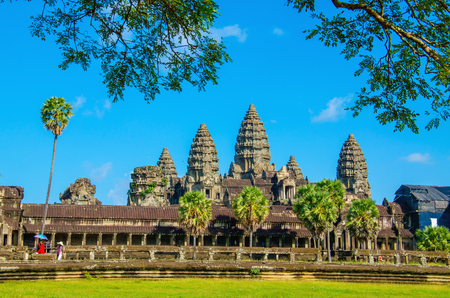 Angkor Wat tempel in de buurt van Siem Reap, Cambodja