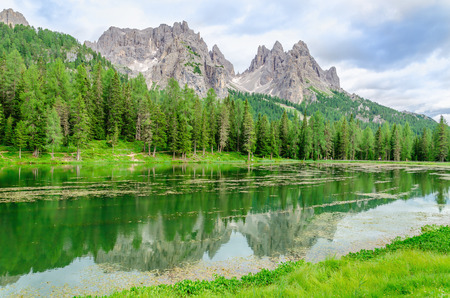 lake misurina: Lake Misurina a.k.a lago di Santa Caterina and Auronzo di Cadore, Province of Belluno, Veneto, Sexten Dolomites, South Tyrol, Italy