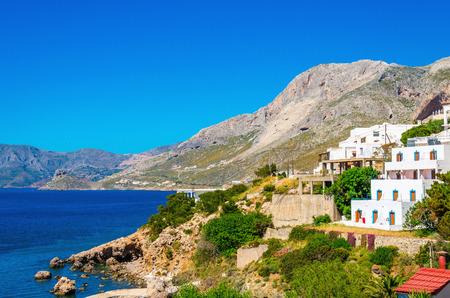 greek islands: Typical Greek houses on the coast, Greek Islands, Aegean Sea