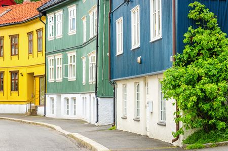 The Wooden Village in the City,  Rodelokka , known for its old wooden house architecture, Oslo, Scandinavia