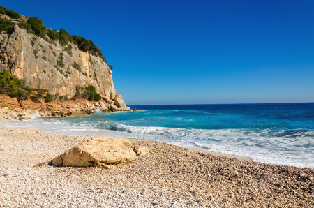 A view of a wonderful stony beach, Sardinia, Italy