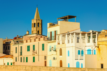 Alghero one of Sardinias most beautiful medieval cities, Sardinia, Italy Stock Photo