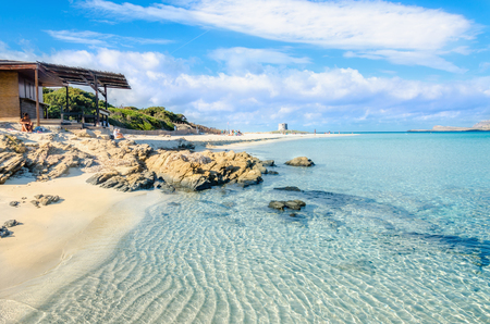Amazing beach in Stintino, Sardinia island, Italy