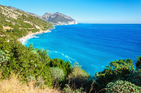 Amazing coast of Golfo di Orosei in the sun, Sardinia, Italy Stock Photo