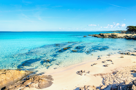 Beautiful sandy beaches of the Mediterranean, La Pelosa, Stintino, Sardinia