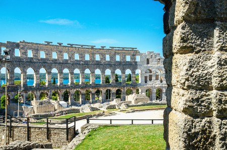 Roman Amphitheater. Pula, Istria, Croatia, Europe