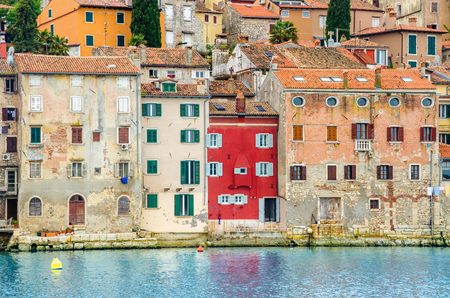 Beautiful colorful  medieval town of Rovinj, Istrian peninsula, Croatia, Europe