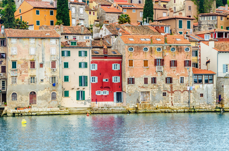 Amazing old town Rovinj with colorful buildings, Istrian peninsula, Croatia Stock Photo