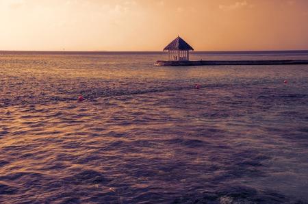 Tropical restaurant on a amazing resort  island, Maldives