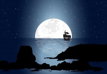 Half Moon con velero