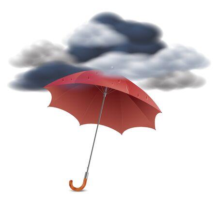 Security Concept - Umbrella Under The Clouds