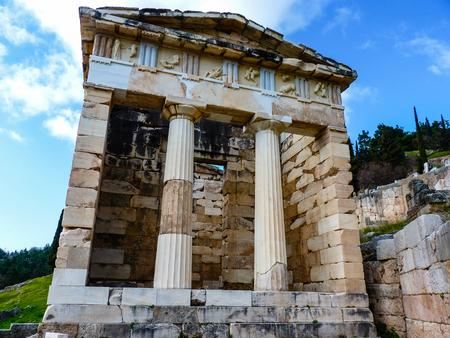 delfi: Treasure of the Athenians at Delphi, Greece