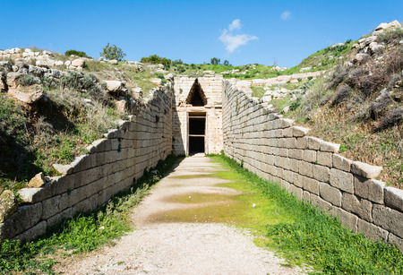 peloponissos: Treasury of Atreus at Mykines ,Greece Stock Photo