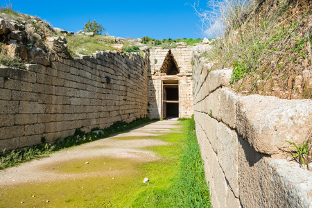 peloponnise: Treasury of Atreus at Mykines ,Greece Stock Photo