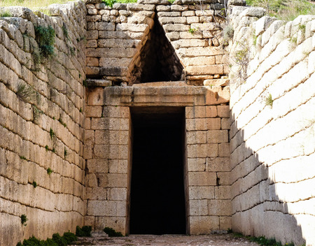 peloponnise: Treasury of Atreus closeup at Mykines ,Greece Stock Photo