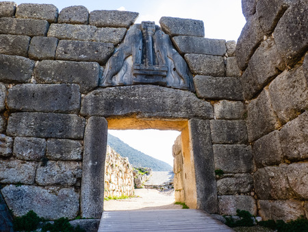 peloponnise: Lion gate picture in Mykines, Greece