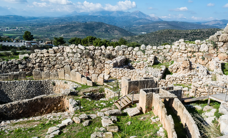 peloponnise: Mycenae, archaeological place at Greece Stock Photo